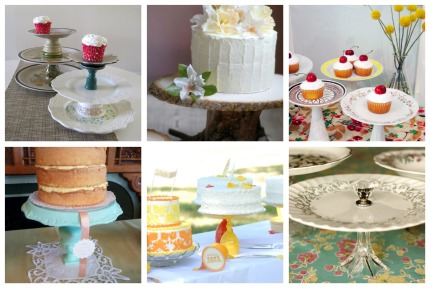 to your bridal shower or wedding dessert table with a unique cake stand