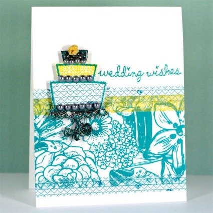 created a tutorial for this adorable wedding wishes card that includes a