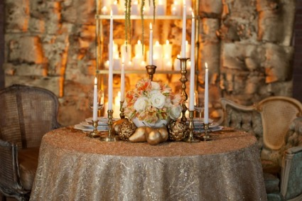 Gold GatsbyInspired Wedding Glamour