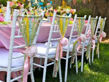 Pink Yellow Gray Modern Ribbon Wedding Inspiration