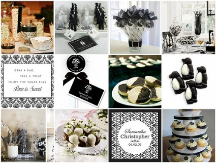 Click here to view several inspiration boards with a black and white theme