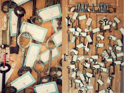 Vintage keys at a wedding add romance and charm in so many ways