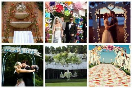 Vintage Style Wedding Arch Vintage Soul Pinwheels Kites Flowers