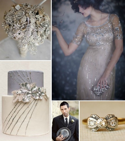 Vintage Glam Winter Wedding