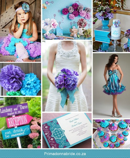 Monday Moods At Diy Weddings Aqua Purple