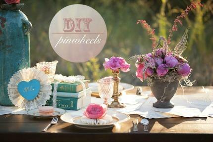 DIY Wedding Pinwheels Tutorial via Bridal Musings