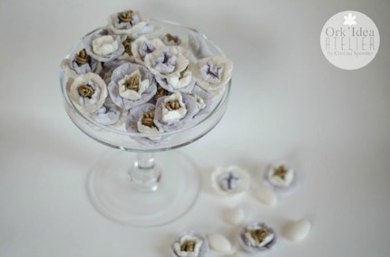 DIY Paper Wedding Flowers via Pane, Amore,e Creativa