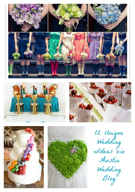 12 Unique Wedding Ideas via Austin Wedding Blog