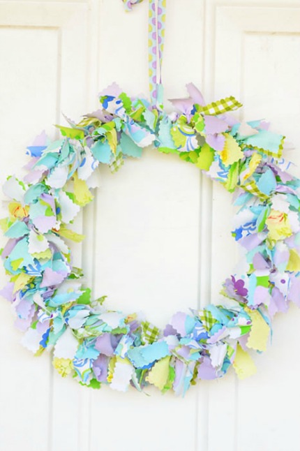 Shabby Chic Fabric Wreath Intimate Weddings