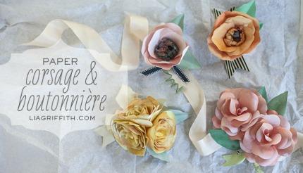 Boutonnieres & Corsage Tutorial via liagriffith.com