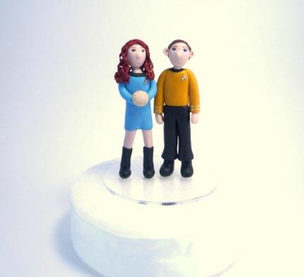 Star Trek Wedding Cake Toppers geeksugar.com