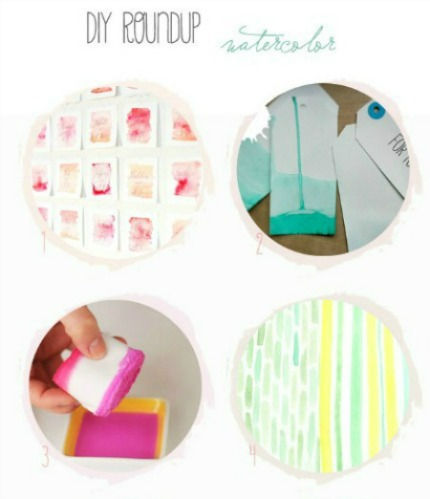 !0 DIY Watercolor Tutorials for Weddings Belle and Chic