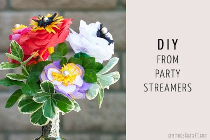 DIY Crepe Paper Flowers via Creme de la Craft