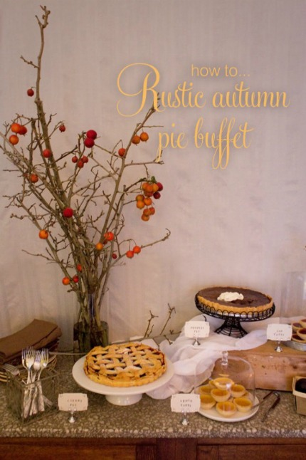 Rustic Autumn Pie Buffet by Alicia Parsons bia Polka Dot Bride