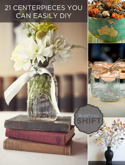 21 Easy DIY Centerpieces via buzzfeed.com
