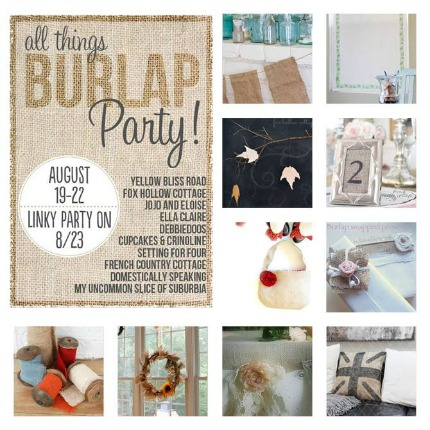 All Things Burlap Party via Fox Hollow Cottage