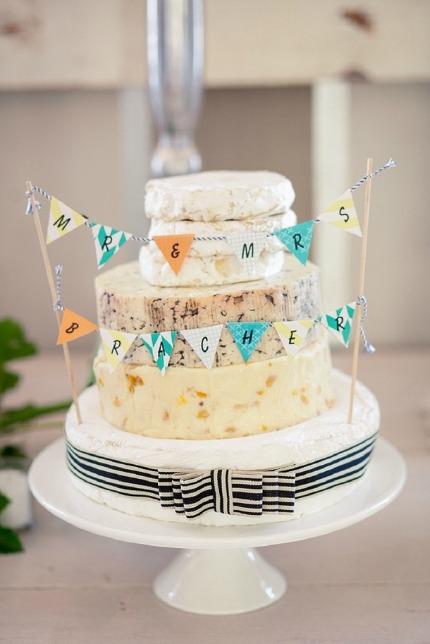 Cheese Wedding Cake via Southbound Bride