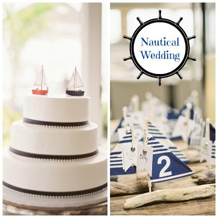 Nautical Wedding via Stephanie Hunter Photography
