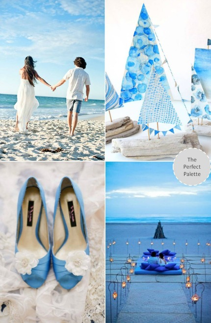 Ocean-Inspired Blue & White via The Perfect Palette