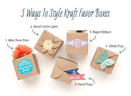 5 Ways to Style Kraft Favor Boxes via My Own Ideas