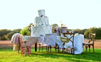 Couture Prairie by Rachel Ashwell Paper Wedding Cake
