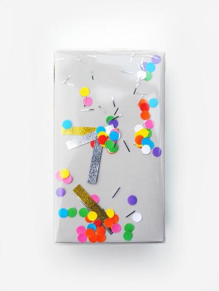 DIY Shake It Confetti Wrap via minieco.co.uk