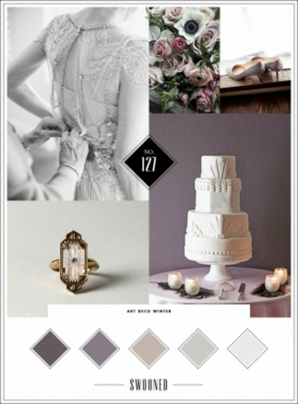 Art Deco Winter Wedding Inspiration via Swooned