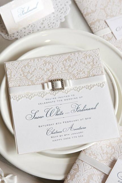 DIY Wedding Invitation via Polka Dot Bride