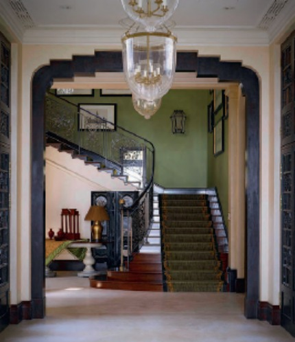 Nina Campbell Interiors The House of Two Cultures Staircase Hall