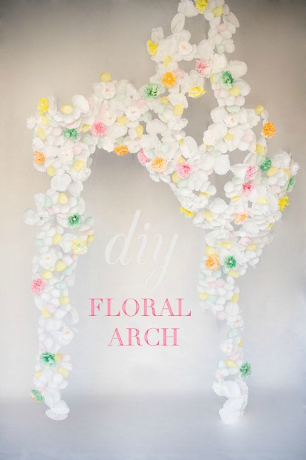 DIY Flower Paper Arch by Sweet Sunday Events and EE Photography via Ruffled Blog