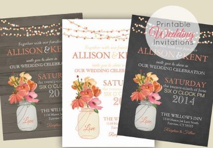 How Do Printable Wedding Invitations Work via Emmaline Bride