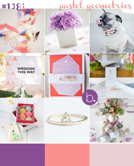 Pastel Geometrics via blovedweddings.com
