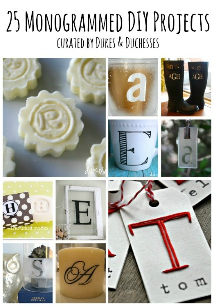 25 Mongrammed DIY Projects via Dukes and Duchesses