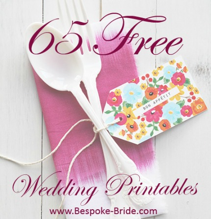 65 Free Wedding Printables for the DIY Lovers
