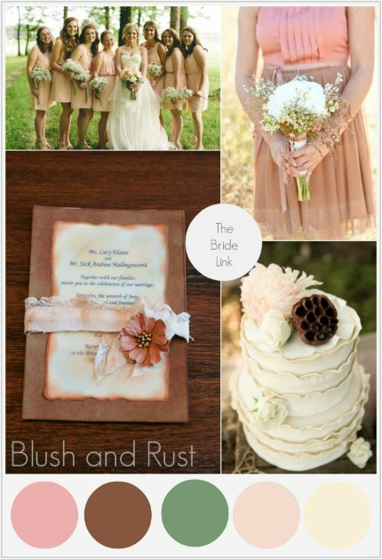Blush and Rust Wedding Inspiration via The Bride Link