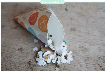 DIY Confetti Bags Free Printables via Swooned