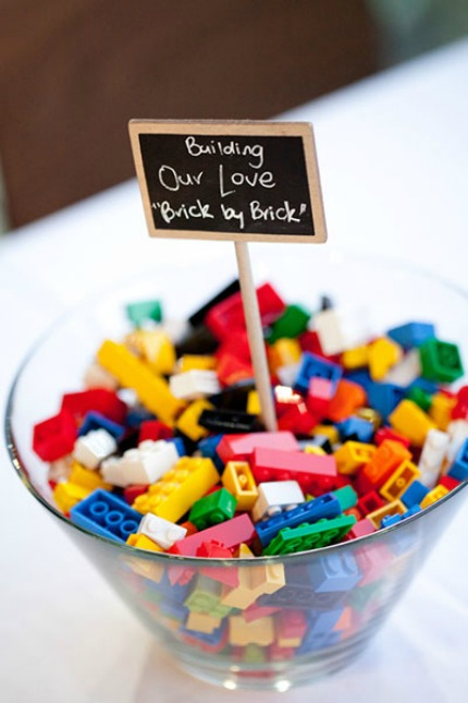 Lego Wedding Inspiration via Bridal Guide with photo by Gemma Clarke Photography