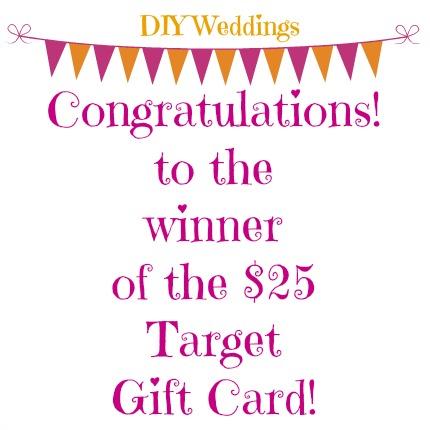Target Gift Winner from weddings.craftgossip.com