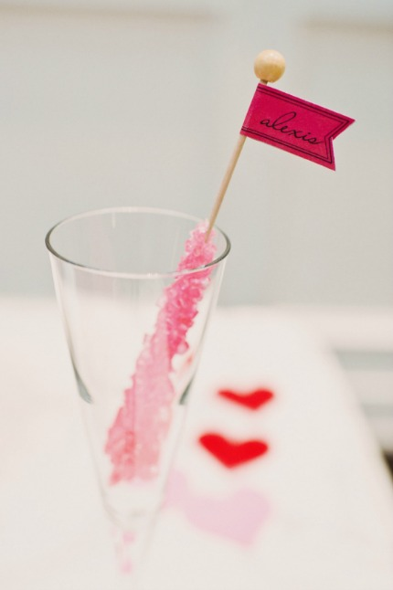 DIY Rock Candy Place Cards via Emmaline Bride
