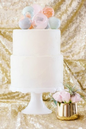 DIY Pastel Cake Topper by The Proper Pinwheel via Inspired by This