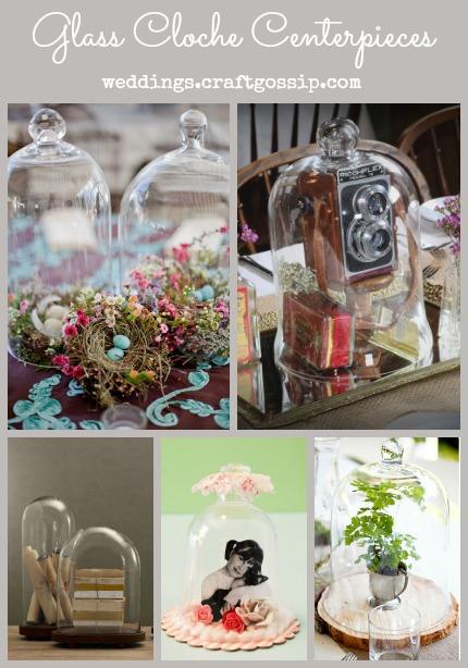 Glass Cloche Centerpieces via weddings.craftgossip.com