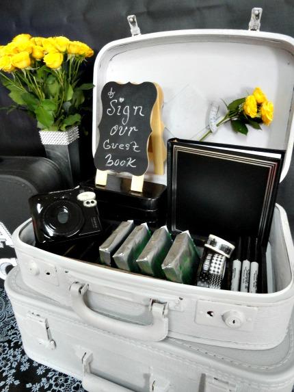 FolkArt® Home Decor™ Chalk Parisian Grey Suitcases via weddings.craftgossip.com