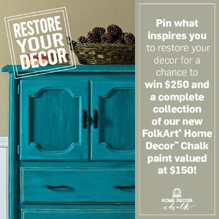FolkArt® Home Decor™ Chalk Pinterest Contest