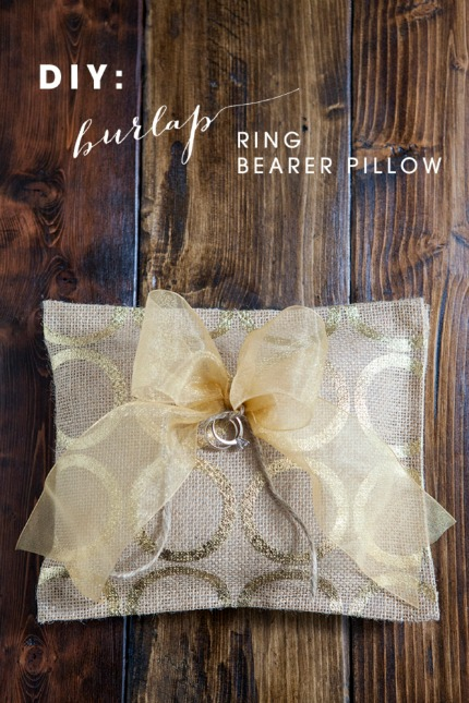 Diy burlap ring bearer pillow diy weddings for Diy ring bearer