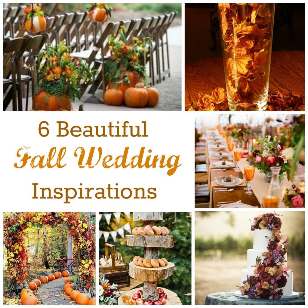 6 Beautiful Fall Wedding Inspirations Diy Weddings