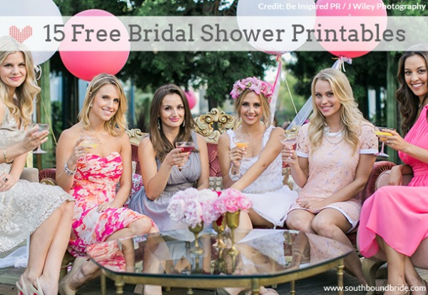 15 Free Bridal Shower Printables via Southbound Bride