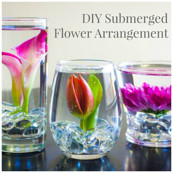 Making Your Own Wedding Flowers: How To Make Your Own Submerged Flower Arrangement