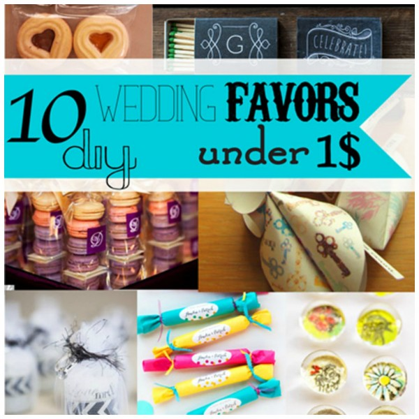 Homemade Wedding Gifts For Guests: DIY Wedding Favors For Under $1