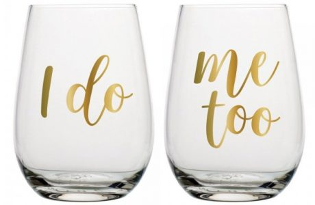 The Cutest Bridal Wine Glasses